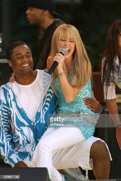 Miley Cyrus as Hannah Montana during 2007 'Good Morning America' Summer Concert Series Featuring Miley Cyrus as 'Hannah Montana' at Bryant Park in...