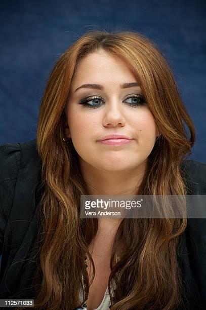 "Miley Cyrus at ""The Last Song"" press conference at Casa Del Mar on March 13, 2010 in Santa Monica, California."