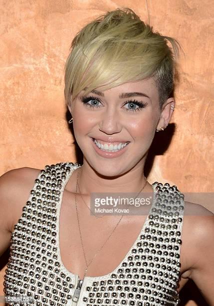 Miley Cyrus attends City Of Hope Honors Halston CEO Ben Malka With Spirit Of Life Award Red Carpet at Exchange LA on October 10 2012 in Los Angeles...