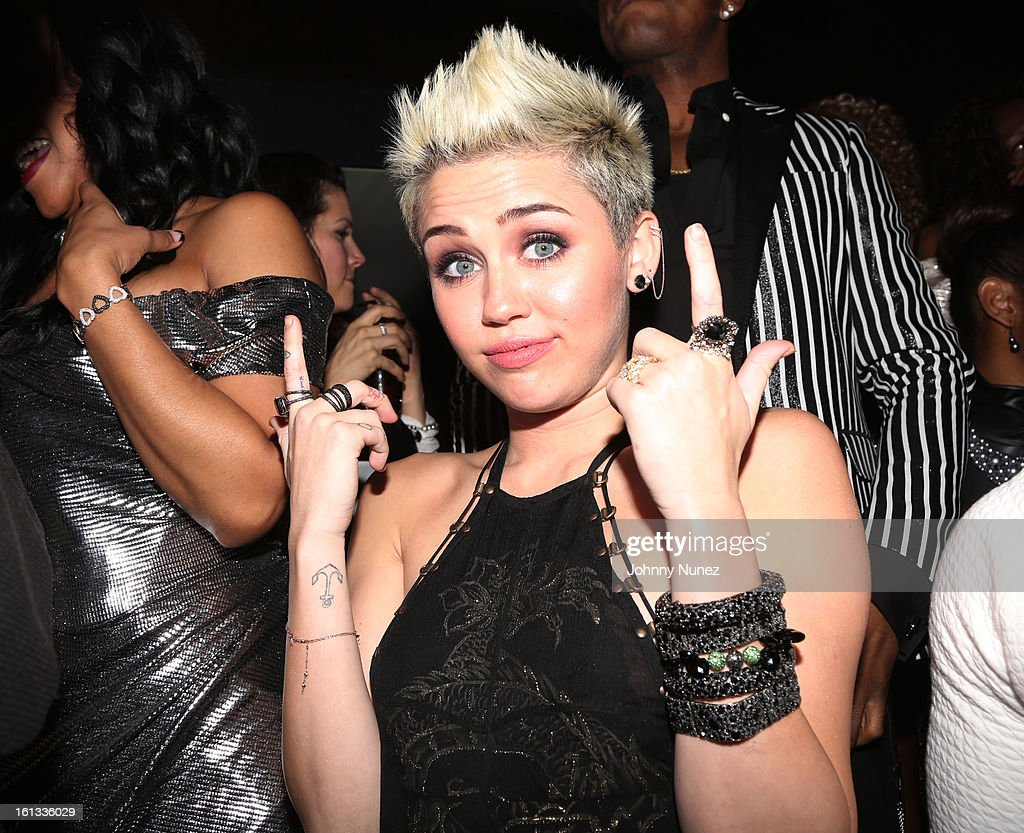 Miley Cyrus attends Compound Entertainment And Malibu Red GRAMMY Midnight Brunch 2013 at Bagatelle/STK on February 9, 2013 in West Hollywood, California.