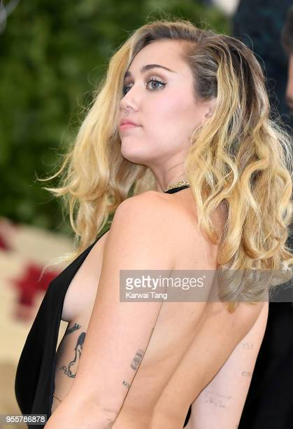 Miley Cyrus attends Heavenly Bodies Fashion The Catholic Imagination Costume Institute Gala at the Metropolitan Museum of Art on May 7 2018 in New...