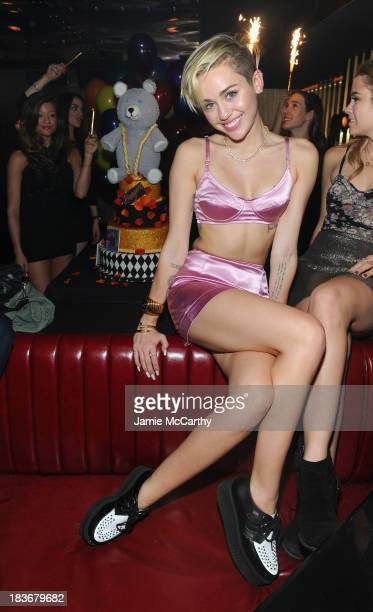 Miley Cyrus attends Miley Cyrus' Official Album Release Party for Bangerz at The General on October 8 2013 in New York City