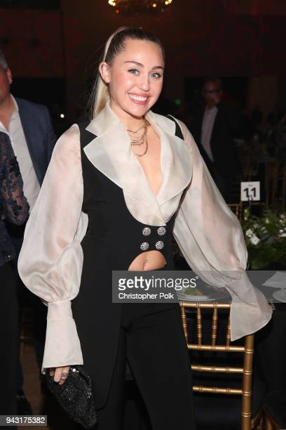 Miley Cyrus attends My Friend's Place 30th Anniversary Gala at Hollywood Palladium on April 7 2018 in Los Angeles California
