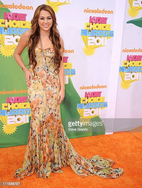Miley Cyrus attends Nickelodeon's 24th Annual Kids' Choice Awards at Galen Center on April 2 2011 in Los Angeles California