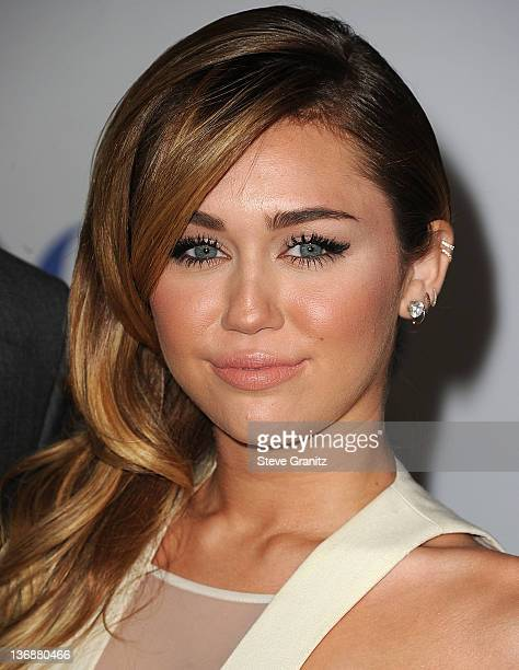 Miley Cyrus attends People's Choice Awards 2012 at Nokia Theatre LA Live on January 11 2012 in Los Angeles California