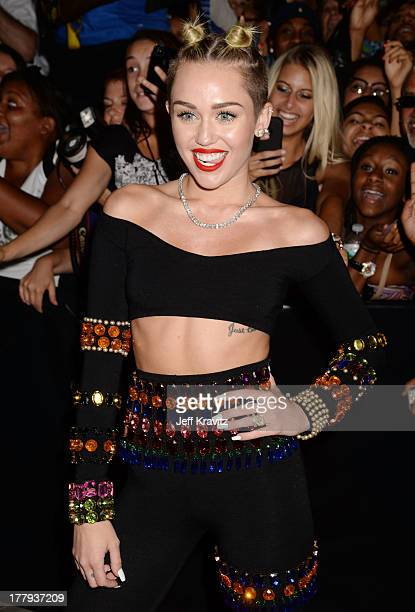 Miley Cyrus attends the 2013 MTV Video Music Awards at the Barclays Center on August 25 2013 in the Brooklyn borough of New York City