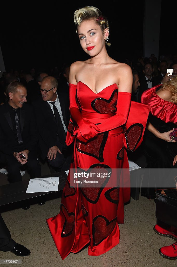 Miley Cyrus attends the 2015 amfAR Inspiration Gala New York at Spring Studios on June 16, 2015 in New York City.
