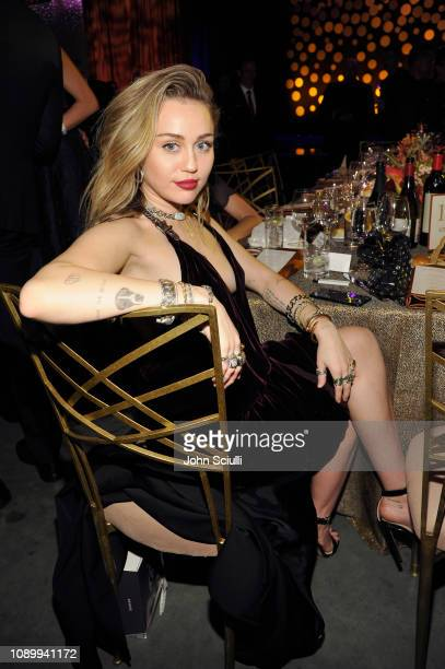 Miley Cyrus attends the 2019 G'Day USA Gala at 3LABS on January 26 2019 in Culver City California