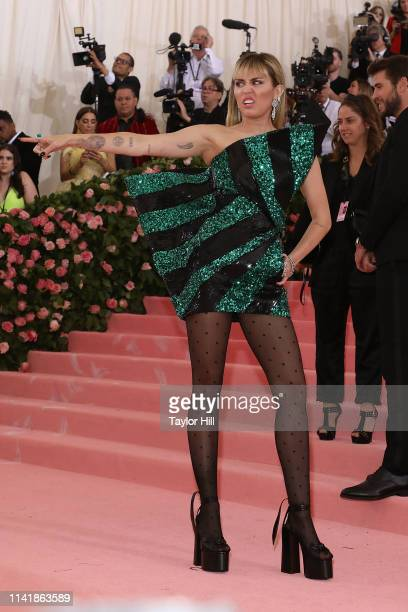 Miley Cyrus attends the 2019 Met Gala celebrating Camp Notes on Fashion at The Metropolitan Museum of Art on May 6 2019 in New York City