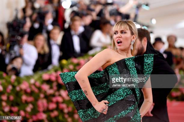 Miley Cyrus attends The 2019 Met Gala Celebrating Camp Notes on Fashion at Metropolitan Museum of Art on May 06 2019 in New York City