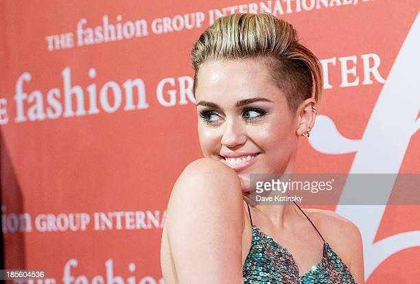 Miley Cyrus attends the 30th Annual Night Of Stars presented by The Fashion Group International at Cipriani Wall Street on October 22 2013 in New...