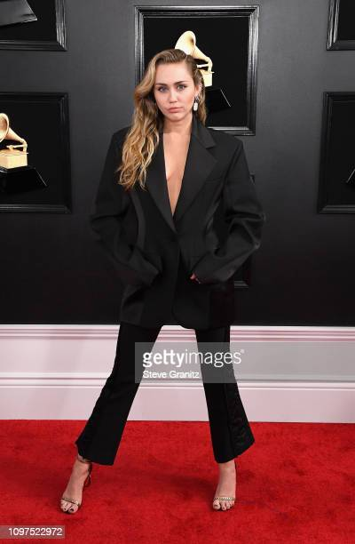 Miley Cyrus attends the 61st Annual GRAMMY Awards at Staples Center on February 10 2019 in Los Angeles California