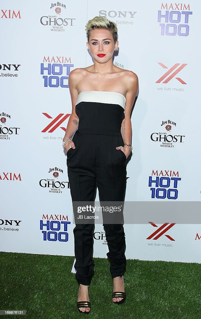 Miley Cyrus attends the Maxim 2013 Hot 100 party held at Create on May 15, 2013 in Hollywood, California.