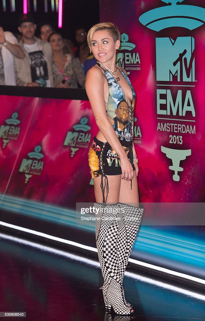 Miley Cyrus attends the MTV EMA's 2013 at the Ziggo Dome in Amsterdam, Netherlands.