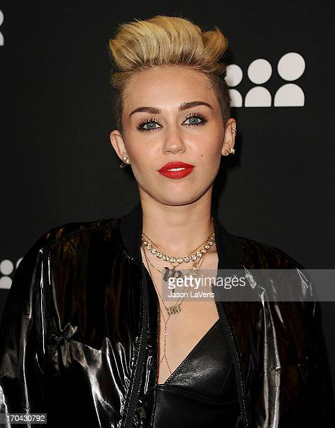 Miley Cyrus attends the Myspace artist showcase event at El Rey Theatre on June 12 2013 in Los Angeles California