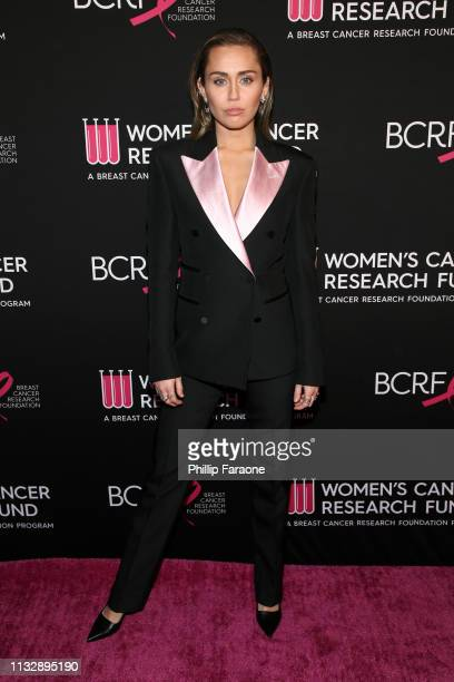Miley Cyrus attends The Women's Cancer Research Fund's An Unforgettable Evening Benefit Gala at the Beverly Wilshire Four Seasons Hotel on February...