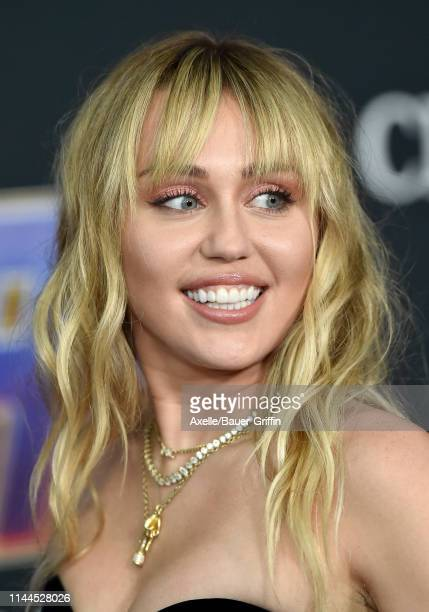 Miley Cyrus attends the World Premiere of Walt Disney Studios Motion Pictures 'Avengers Endgame' at Los Angeles Convention Center on April 22 2019 in...