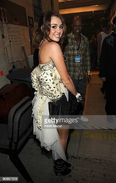 Miley Cyrus backstage at Brooklyn Academy of Music on September 17 2009 in New York City