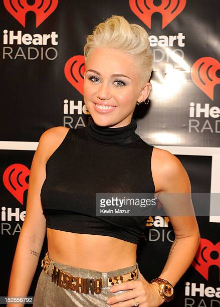 Miley Cyrus backstage during the 2012 iHeartRadio Music Festival at MGM Grand Garden Arena on September 21, 2012 in Las Vegas, Nevada.