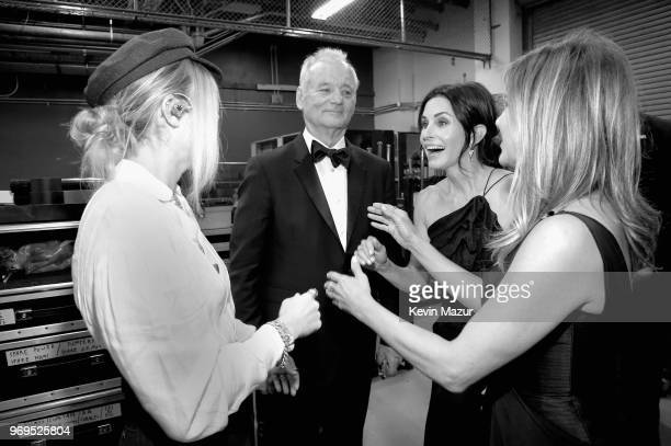 Miley Cyrus Bill Murray Courteney Cox and Jennifer Aniston attend the American Film Institute's 46th Life Achievement Award Gala Tribute to George...