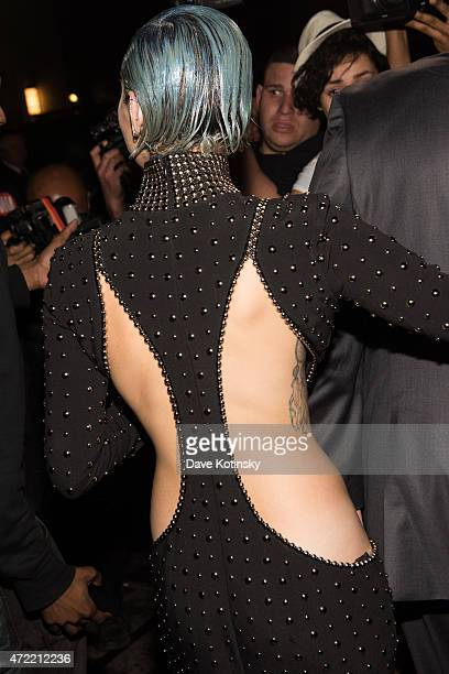Miley Cyrus departs Rihanna's Private Met Gala After Party at Up & Down on May 4, 2015 in New York City.