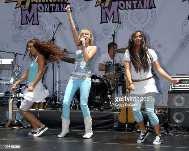 Miley Cyrus during Disney Channel Superstar Hannah Montana Miley Cyrus Performs A Free Concert Celebrating The DVD Release Of 'Hannah Montana Pop...