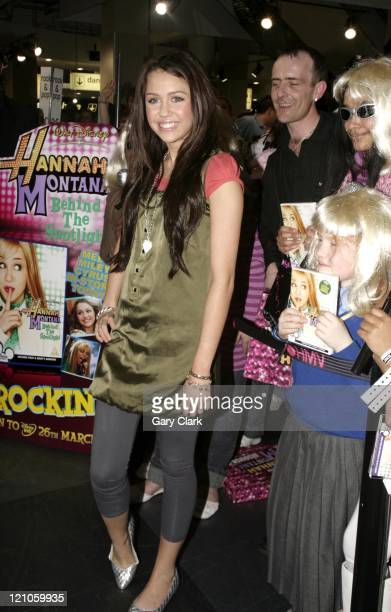 Miley Cyrus during 'Hannah Montana Livin' The Rock Star Life' DVD Signing March 27 2007 at HMV Oxford Street in London Great Britain