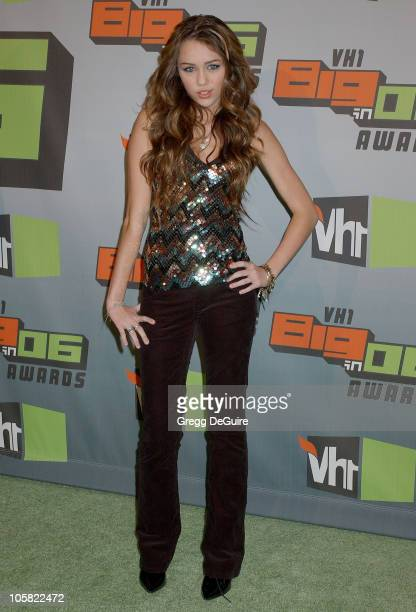 Miley Cyrus during VH1 Big in '06 Arrivals at Sony Studios in Culver City California United States