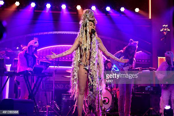 LIVE Miley Cyrus Episode 1684 Pictured Musical guest Miley Cyrus performs on October 3 2015