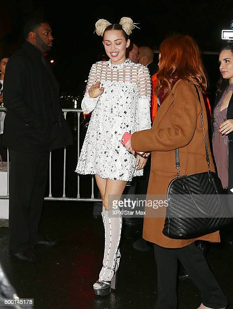 Miley Cyrus is seen on December 02 2015 in New York City