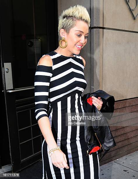 Miley Cyrus is seen on February 14 2013 in New York City