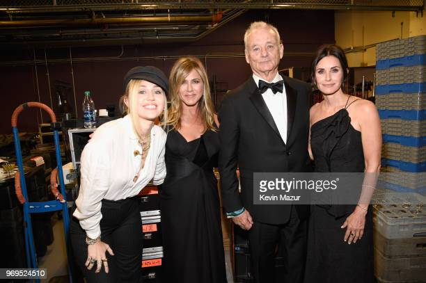 Miley Cyrus Jennifer Aniston Bill Murray and Courteney Cox attend the American Film Institute's 46th Life Achievement Award Gala Tribute to George...