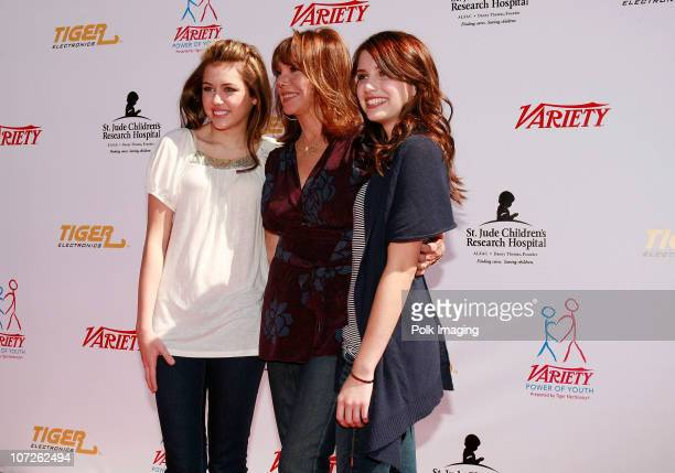 Miley Cyrus Marlo Thomas and Emma Roberts arrive to Variety's Power of Youth Benefiting St Jude Children's Hospital Presented by Tiger Electronics at...