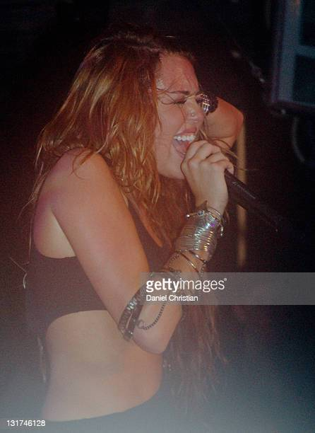 Miley Cyrus performing at GAY Heaven nightclub on June 06 2010 in London England