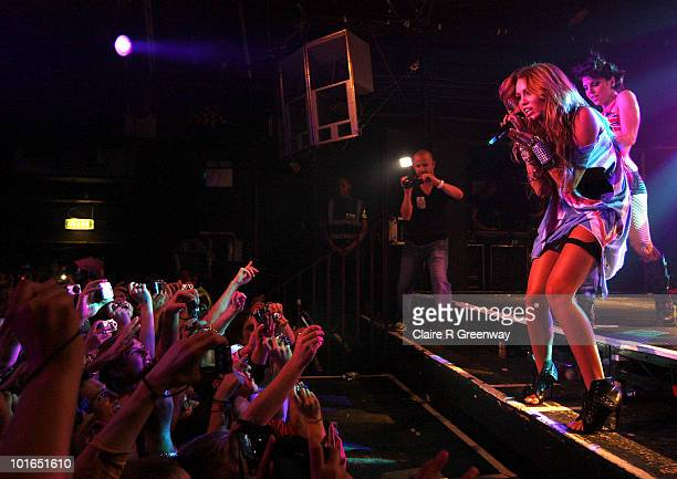 Miley Cyrus performs at GAY at the Heaven nightclub on June 5 2010 in London England