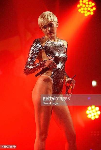 Miley Cyrus performs at GAY on May 9 2014 in London England