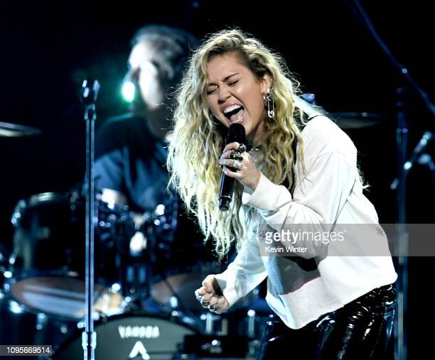 Miley Cyrus performs at I Am The Highway A Tribute to Chris Cornell at the Forum on January 16 2019 in Inglewood California