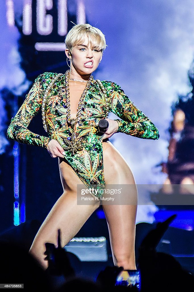 Miley Cyrus performs at Jerome Schottenstein Center on April 13, 2014 in Columbus, Ohio.