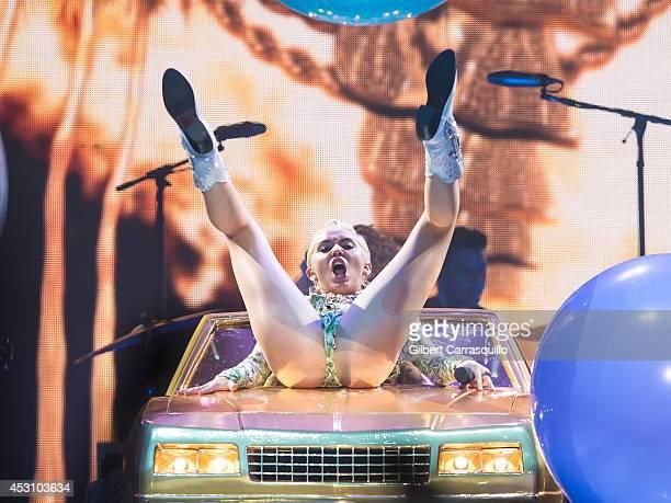 Miley Cyrus performs at Wells Fargo Center on August 2 2014 in Philadelphia Pennsylvania