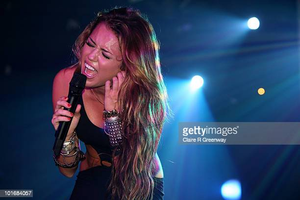 Miley Cyrus performs on stage at GAY at Heaven nightclub on June 5 2010 in London England