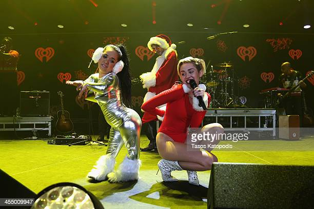Miley Cyrus performs onstage during 101.3 KDWB's Jingle Ball 2013, at Xcel Energy Center on December 10, 2013 in St. Paul, Minnesota.