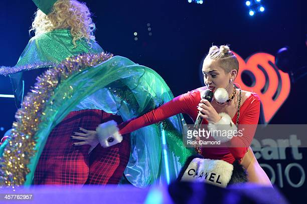 Miley Cyrus performs onstage during 933 FLZ's Jingle Ball 2013 at the Tampa Bay Times Forum on December 18 2013 in Tampa Florida