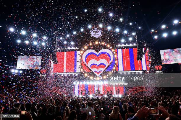 Miley Cyrus performs onstage during the 2017 iHeartRadio Music Festival at T-Mobile Arena on September 23, 2017 in Las Vegas, Nevada.