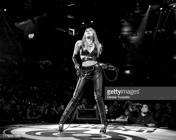 Miley Cyrus performs onstage during the 2019 iHeartRadio Music Festival at T-Mobile Arena on September 21, 2019 in Las Vegas, Nevada.