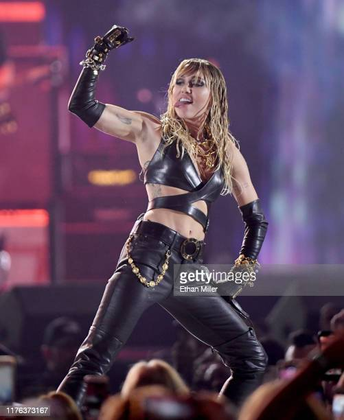 Miley Cyrus performs onstage during the 2019 iHeartRadio Music Festival at TMobile Arena on September 21 2019 in Las Vegas Nevada