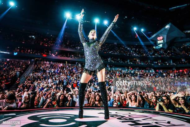 Miley Cyrus performs onstage during the iHeartRadio Music Festival at TMobile Arena on September 23 2017 in Las Vegas Nevada