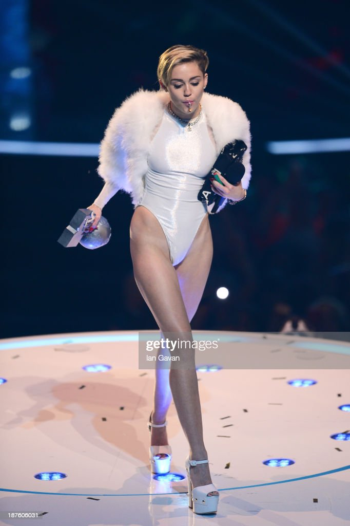 Miley Cyrus performs onstage during the MTV EMA's 2013 at the Ziggo Dome on November 10, 2013 in Amsterdam, Netherlands.