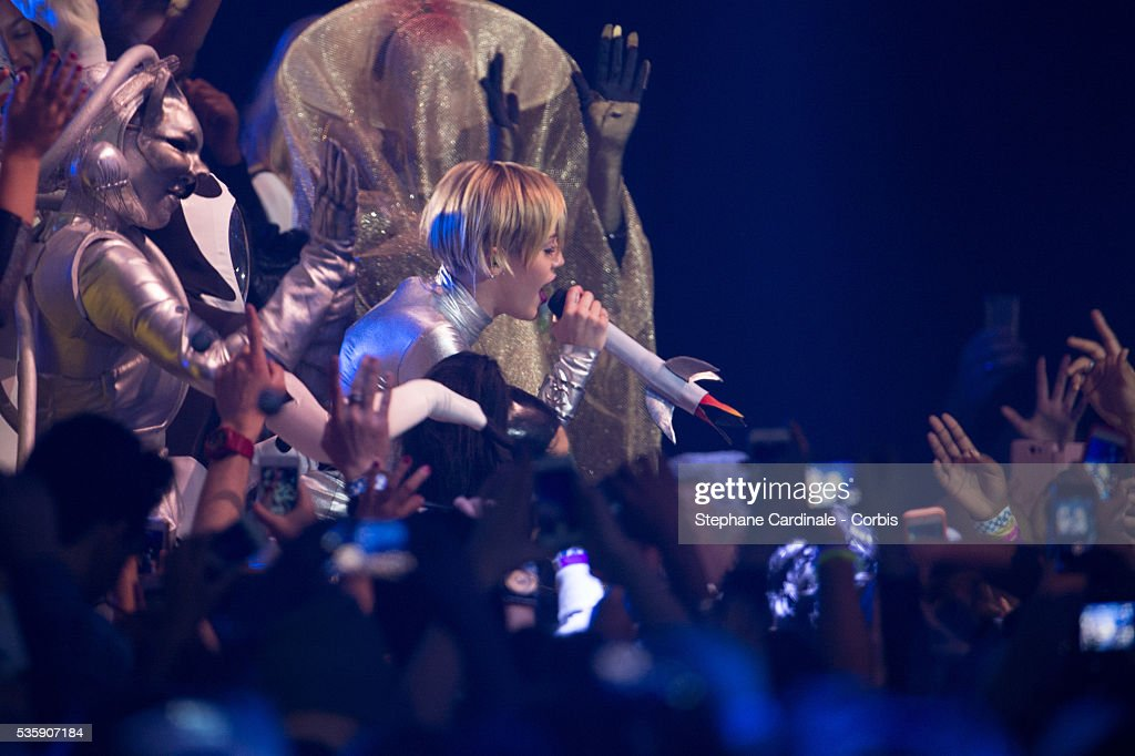 Miley Cyrus performs onstage during the MTV EMA's 2013 at the Ziggo Dome in Amsterdam, Netherlands.