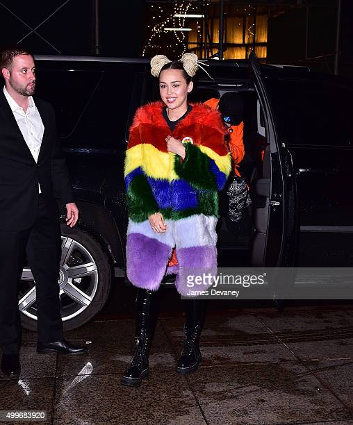 Miley Cyrus seen on the streets of Manhattan on December 2 2015 in New York City