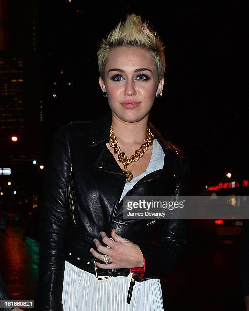 Miley Cyrus seen on the streets of Manhattan on February 13 2013 in New York City